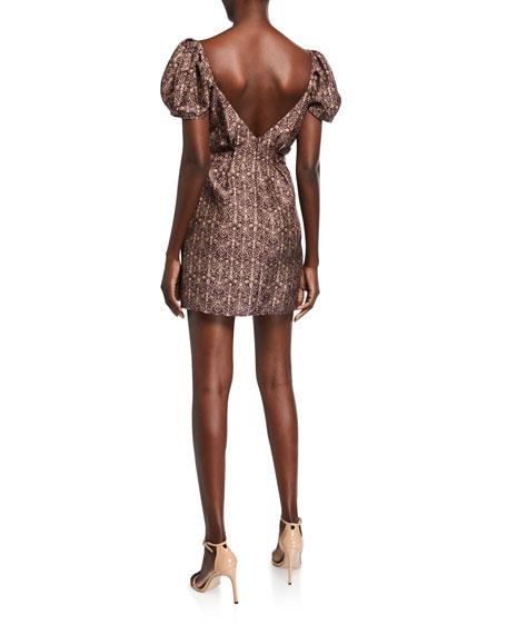 Siena Puff-Sleeve Mini Dress