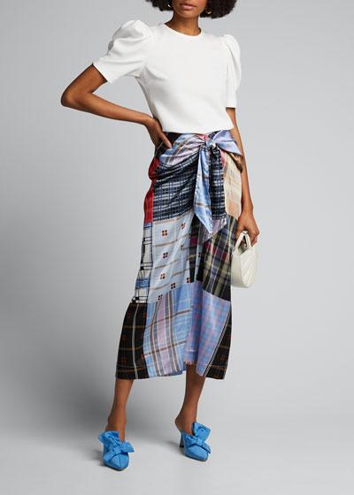 Silk Stretch-Satin Skirt