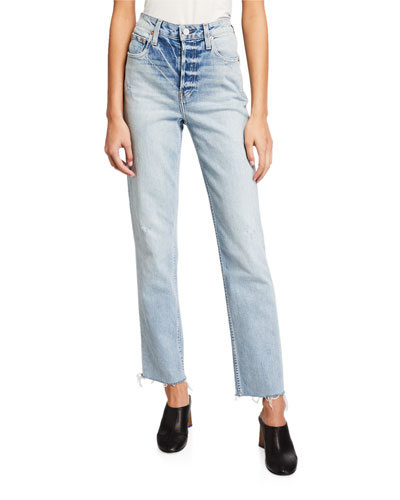 Constance High-Rise Frayed Jeans