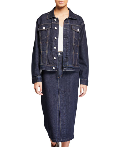 Adrienne Belted Denim Jacket
