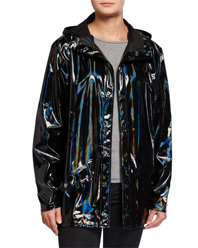 Holographic Water-Resistant Jacket