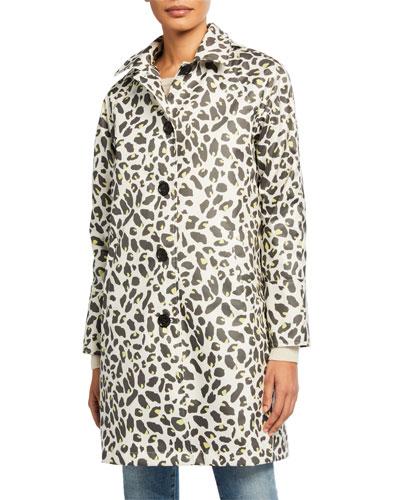 Leopard-Print Button-Up Slicker