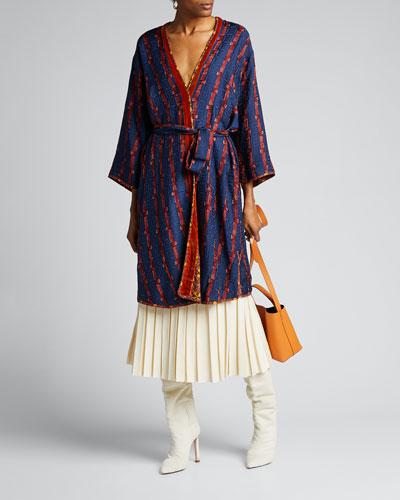 Joseph Silk Jacquard Print Jacket