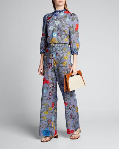 Pickford Midnight Floral Print Pants