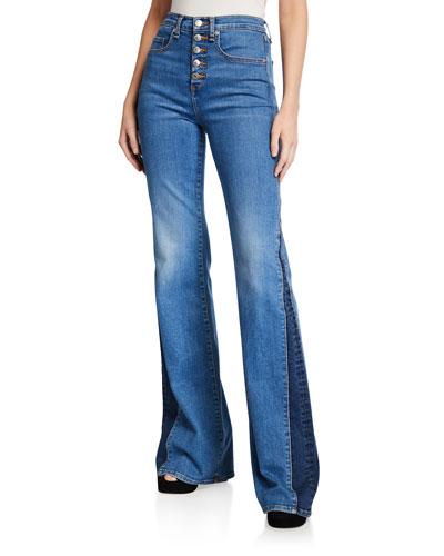Kiley High-Rise Wide-Leg Jeans