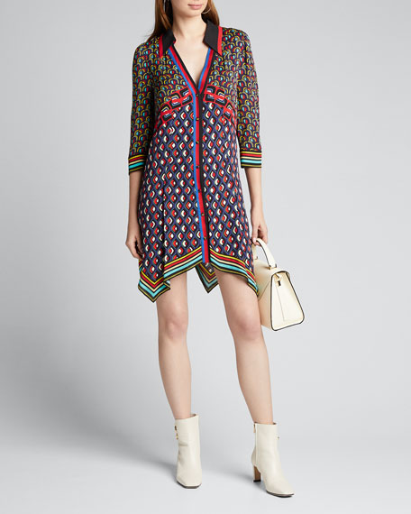 Image 1 of 1: Conner Handkerchief Shirt Dress