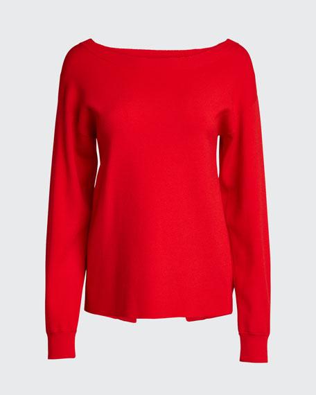Ruela Split-Back Sweater with Hardware Detail