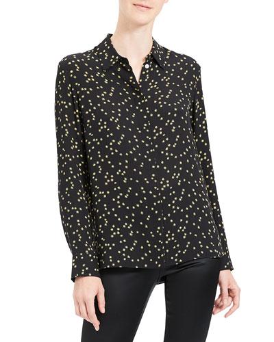 Classic Printed Button-Down Shirt