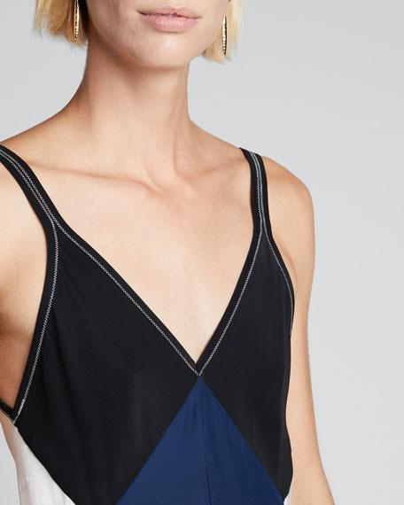 Gladys Colorblock Slip Dress