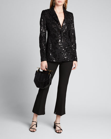 Firdas Sequined Single-Button Jacket