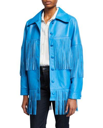 Loretta Lamb Leather Fringe Jacket