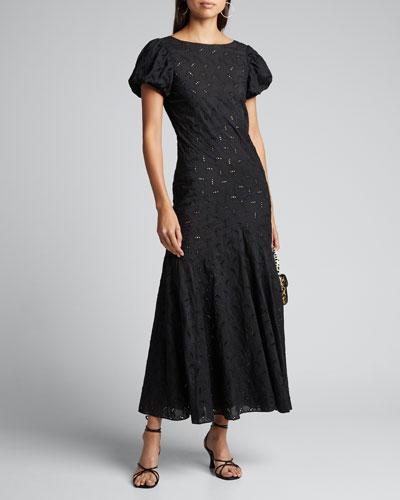 Elodie Paneled Eyelet Gown