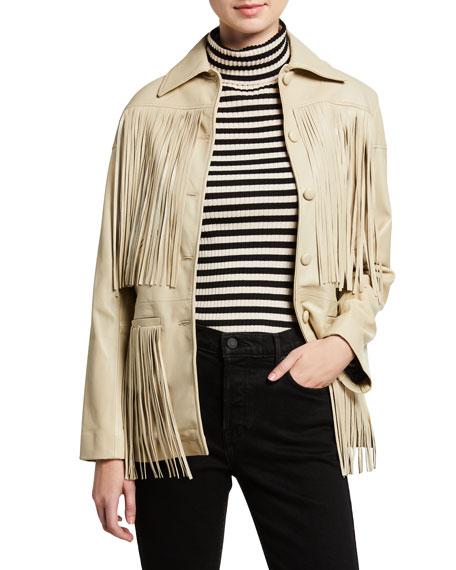 Dixie Lamb Leather Fringe Jacket