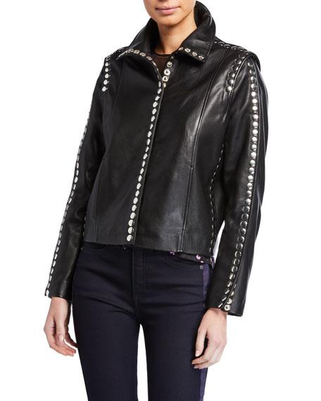 Elvis Studded Lamb Leather Jacket