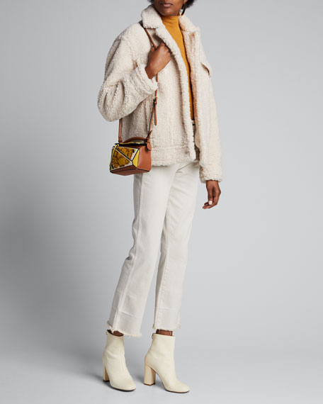 Image 1 of 1: Sherpa Faux Fur Jacket