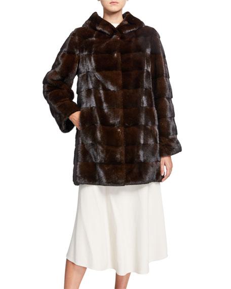 Reversible Hooded Mink Fur Coat by Yves Salomon