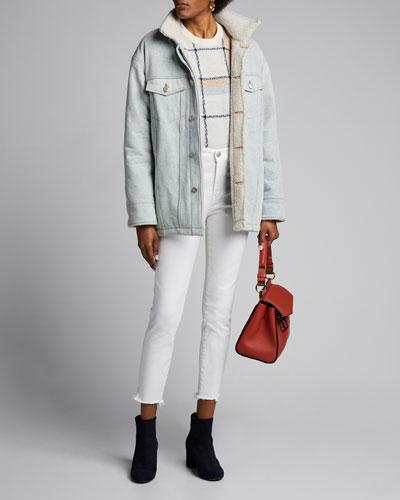 3x1 X Mimi Cuttrell B Reversible Sherpa Oversized Jacket