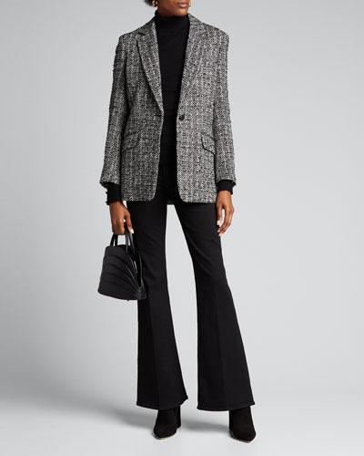Odette Turtleneck Sweater w/ Button Detail