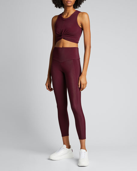 Front Twist Sleeveless Crop Top