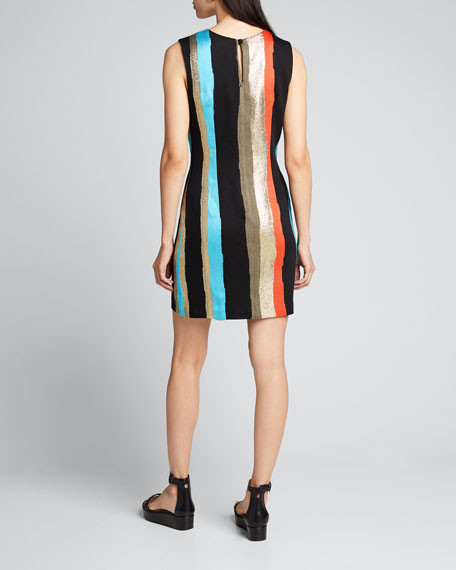 Gina Graphic Tweed Sleeveless Dress