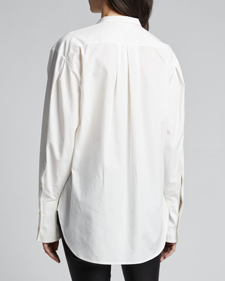 Pleated Clean Collared Shirt