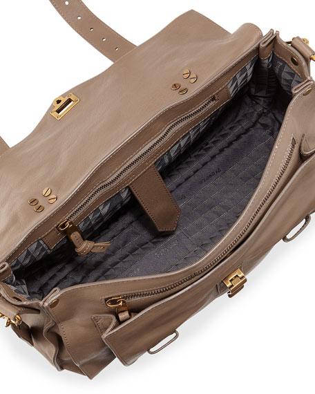 PS1 Medium Satchel Bag, Smoke