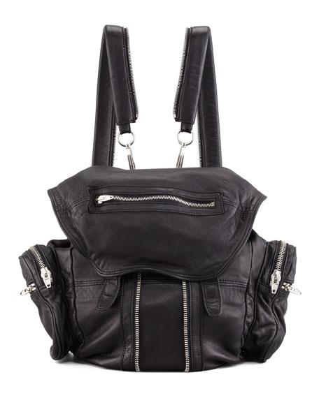 Alexander Wang Marti Zippered Backpack, Black