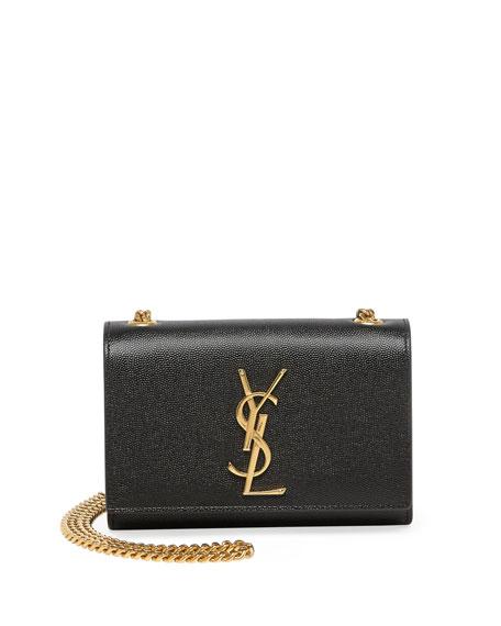 monogram-leather-crossbody-bag,-black by saint-laurent