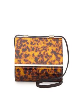 Givenchy Pandora Acrylic Micro Box Bag, Tortoise