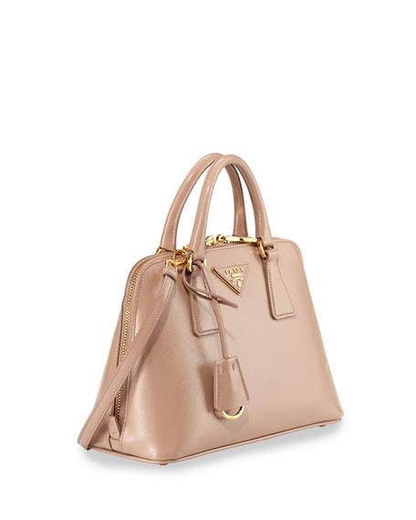 Saffiano Vernice Mini Promenade Bag, Blush (Cammeo)