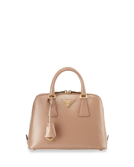 prada handbag sale uk - Prada Saffiano Vernice Mini Promenade Bag, Blush (Cammeo)