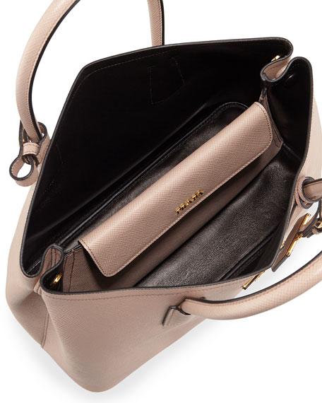 0ac279381186 Prada Saffiano Cuir Small Double Bag, Blush (Cammeo)