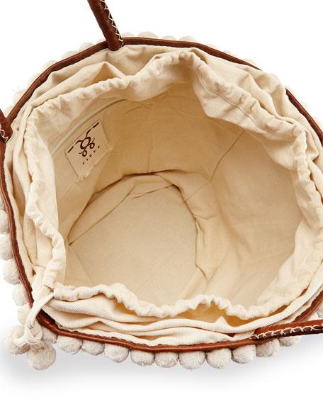 Large Tuk Tuk Tote Bag, Ivory/Brown
