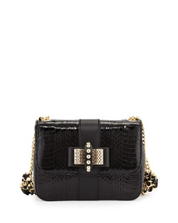 Sweet Charity Mini Snakeskin Backpack, Black