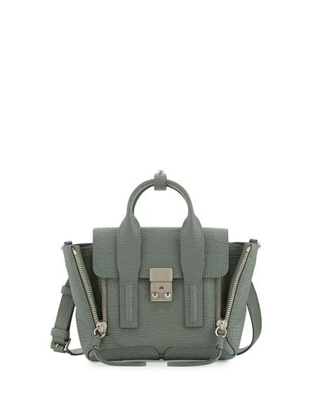 Pashli Mini Leather Satchel Bag, Agave
