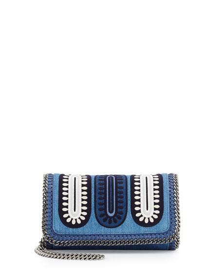 5da7967772 Stella McCartney Falabella Embroidered Denim Crossbody Bag