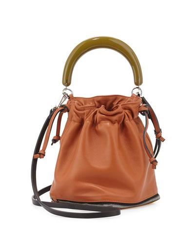 Small Expandable Zip Satchel Bag