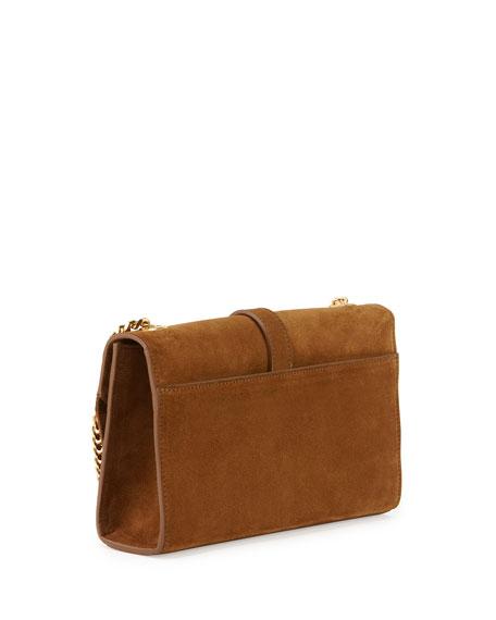 Monogram Suede Fringe Shoulder Bag