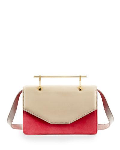 M2MALLETIER Indre Textured Leather Satchel Bag