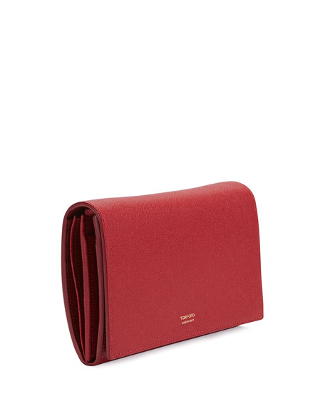 Leather Flap Wallet-on-Strap