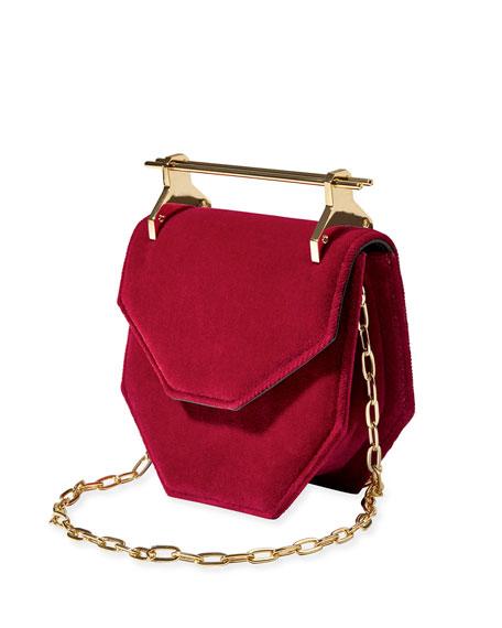 Amor Fati Mini Suede Satchel Bag
