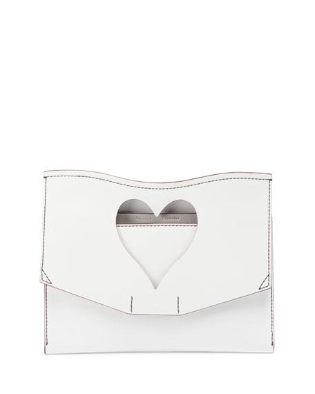 Proenza Schouler Curl Medium Cutout Clutch Bag, White