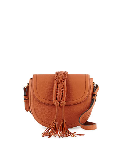 Ghianda Woven Knot Saddle Bag