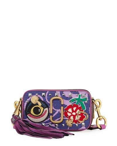 Tapestry Snapshot Crossbody Bag, Purple