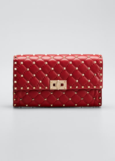ROCKSTUD SPIKE NAPPA LEATHER