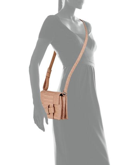 Tie Crocodile Crossbody Bag