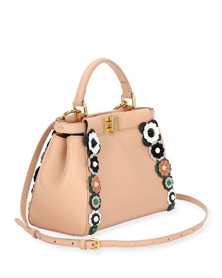Flowerland Peek-A-Boo Mini Leather Satchel Bag