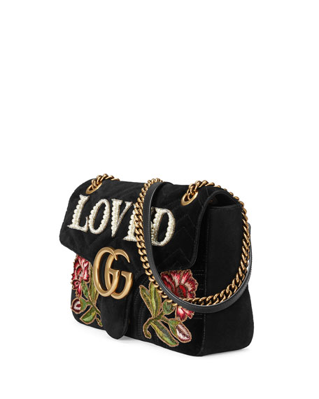 9c2849e2658 Gucci GG Marmont 2.0 Loved Medium Quilted Shoulder Bag