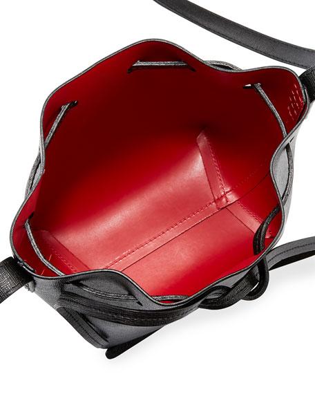Mini Mini Saffiano Leather Bucket Bag