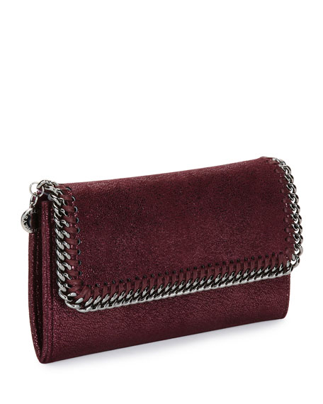 Falabella Shiny Dotted Continental Flap Wallet
